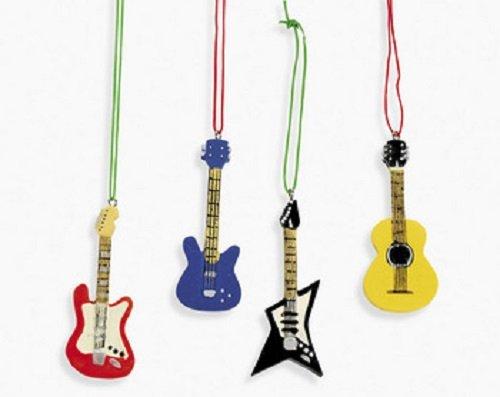 Lot of 12 Resin Guitar Christmas Tree Holliday Ornaments - Guitar Christmas Ornaments - Christmas Tree Ideas.net