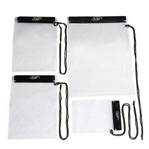 Mudder-Waterproof-Bags-Pouch-Case-for-Map-iPad-Camera-and-Mobile-Phone-4-Pack
