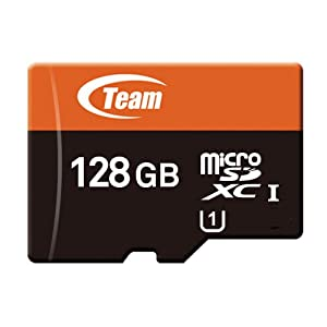 Team microSDXC カード UHS-1 60MB/sec (128GB) カード 変換アダプター付き