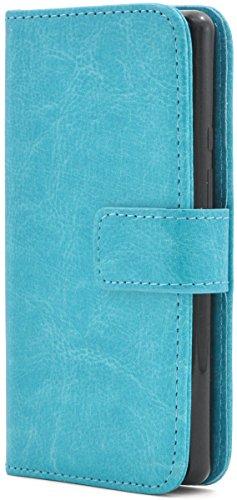 PLATA SH-02H / SHV33 / 503SH / DM-01H 用 カラー レザー スタンド ケース ポーチ 手帳型 カバー 【 ライトブルー 水色 ブルー blue】 DSH02H-77LB