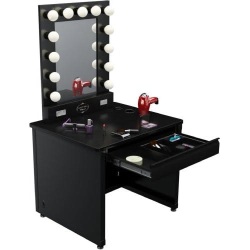 Amazoncom  Broadway Lighted Vanity Desk 36 x 30