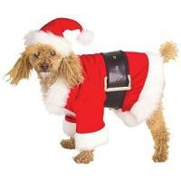 Amazon.com : Santa Claus Dog Costume - Medium : Pet ...
