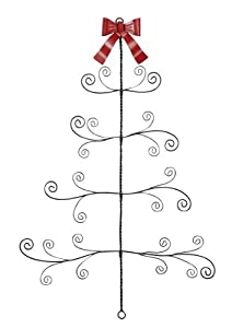 Twisted Metal / Wire Christmas Tree Card Photo Holder Wall