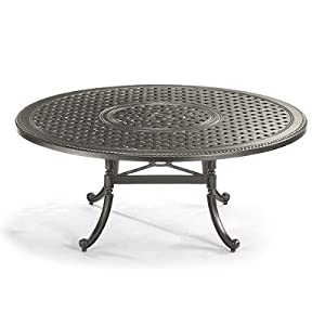5 carlisle cast top chat table in gray finish frontgate patio furniture love seats love seats