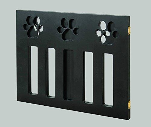 Pet Gate. Foldable Adjust Freestanding Wood Paw Print
