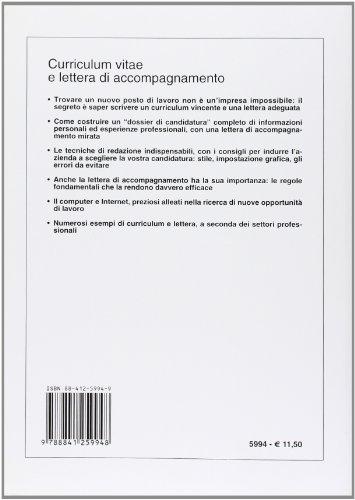 Libro Curriculum vitae e lettera di accompagnamento di