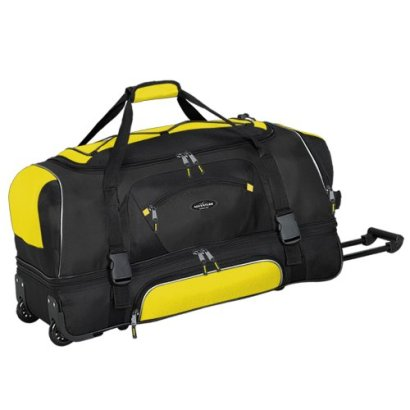 Adventurer-Duffel-Collection-36-2-Section-Drop-Bottom-Rolling-Duffel-in-Yellow-and-Black