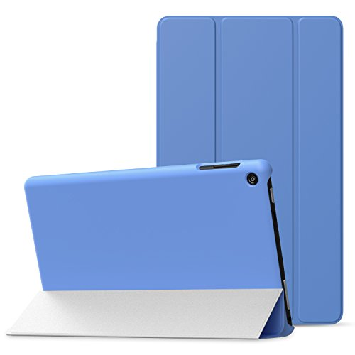 MoKo Case for All-New Amazon Fire HD 8 (2016 6th Generation) - Ultra Slim Lightweight Smart-shell Stand Cover with Auto Wake / Sleep for Fire HD 8 Tablet (6th Gen, 2016 release Only), BLUE
