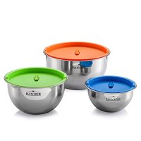 Luvide Stainless Steel Mixing Bowls with Lids 3 Sets Home ...
