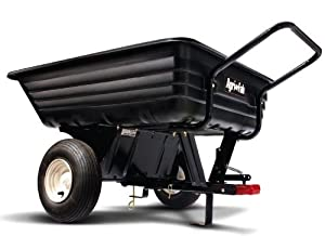 Agri-Fab 45-0345 350-Pound Poly Convertible Push/Tow Dump Cart