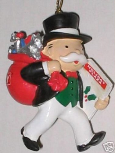 Mr Monopoly Christmas ornament