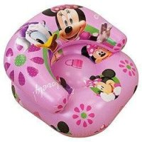 Girls Kids Disney Minnie Mouse Inflatable Chair (See ...