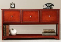 Oxford 55 Inch Dark Cherry Three Drawer File Cabinet And ...