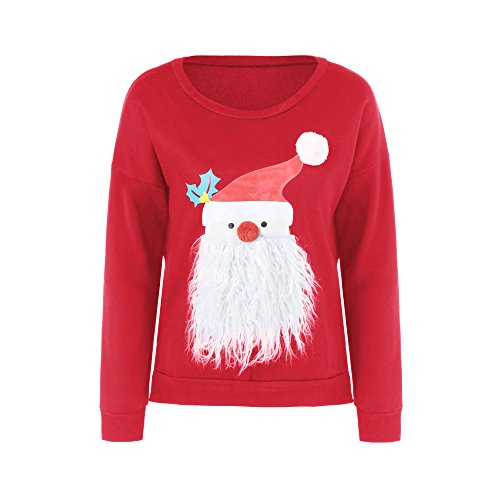 Kalin L Women Mr. Claus Santa Snowman Ugly Christmas Cardigan Sweater
