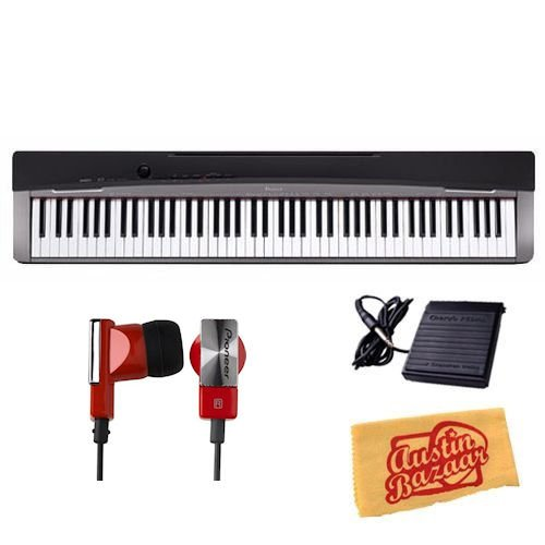 Casio Privia PX-130 Digital Piano Bundle with Sustain Pedal, Headphones, and Polishing Cloth