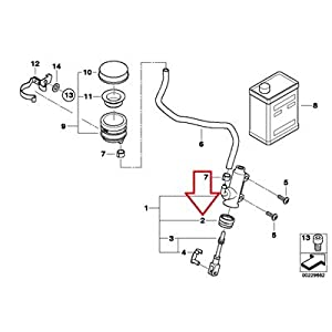 Amazon.com: BMW Genuine Rear Brake Master Cylinder