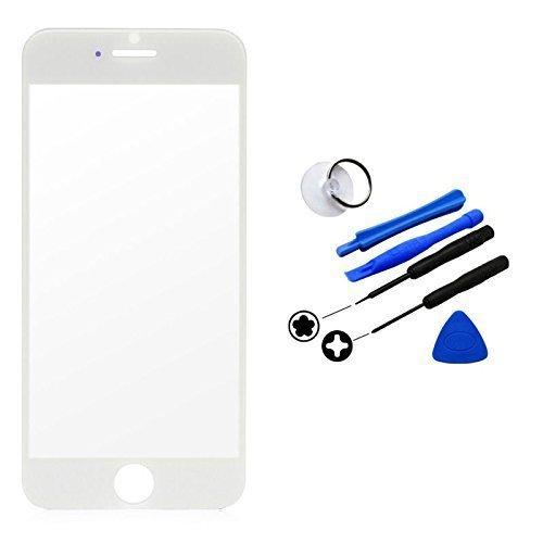 iPhone 6 Plus 5.5 inchフロントガラス 保護用ガラス 修理用部品 パーツ 修理ツール付き ホワイト