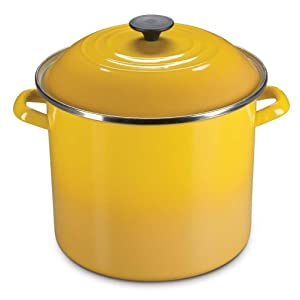 Le Creuset Enamel-on-Steel 6-Quart Covered Stockpot, Dijon