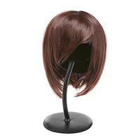 Freestanding Black Metal Hat Rack / Wig Holder Storage