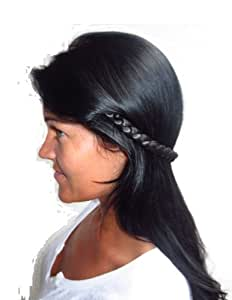 thin open ended clip in hair braid near black hair piece synthetic hairpieces