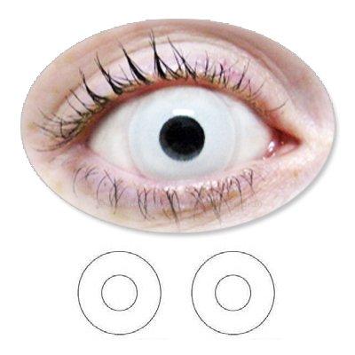 Weisse Motivlinsen BIONORA Farbige Kontaktlinsen Zombi weiß Zombie Jahreslinsen inklusive Behälter
