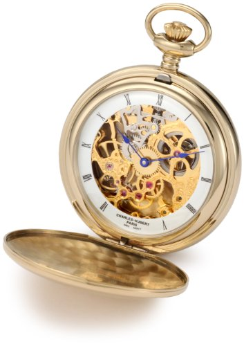 paris 3904-g premium collection gold-plated stainless steel polished finish double hunter case mechanical pocket watch,video review,charles-hubert,(VIDEO Review) Charles-Hubert, Paris 3904-G Premium Collection Gold-Plated Stainless Steel Polished Finish Double Hunter Case Mechanical Pocket Watch,