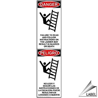 ComplianceSigns Vinyl Ladder / Scaffold Label, 8 x 2 in