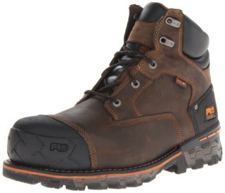 Timberland PRO Men's Boondock 6 Inch Waterproof Non-Insulated Work Boot,Brown Oiled Distressed,13 M US