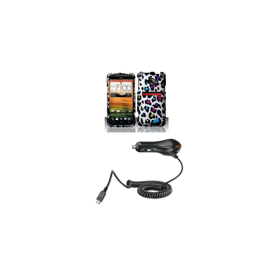 HTC EVO 4G LTE (Sprint) Premium Combo Pack Rainbow Leopard