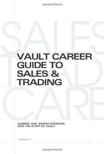 READ Vault Career Guide to Sales & Trading (Vault Career