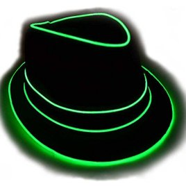 Premium Light Up Fedora Hat, Uses High Quality EL Wire, By GlowCity