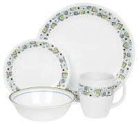 corelle livingware 16-piece dinnerware set, service for 4 ...