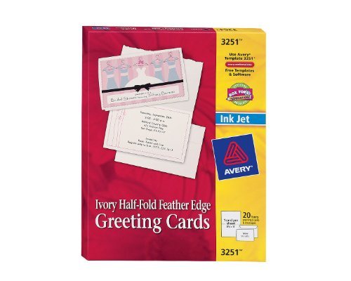 avery card templates half fold
