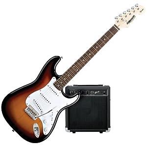 Starcaster by Fender Strat Electric Guitar Starter Pack, Sunburst