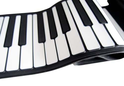 Roll Up Piano - Digital & Portable 61 Keys Roll-Up Piano 3D hand Thicken Key