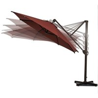 Abba Patio Offset Patio Umbrella 11-Feet Hanging ...