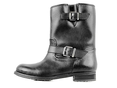 Wills Womens' Vegan Biker Boots (9 (B) US, Black)