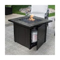 UniFlame LP Gas Outdoor Fire Bowl with Slate Tile Mantel ...