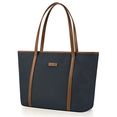 CHICECO-Womens-Travel-Tote-Shoulder-Bag-Fits-to-14-Inch-Laptops-BlueBrown