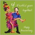 4th wedding anniversary card amazon co uk kitchen amp home