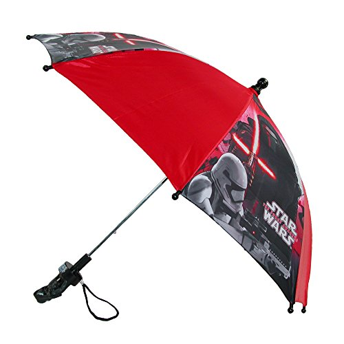 CTM® Kids Disney Star Wars Stick Umbrella with Character Handle, Red