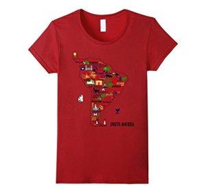 South-America-T-Shirt-Travel-Map