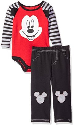 Disney-Baby-Boys-2-Piece-Mickey-Mouse-Pant-Set-with-3d-Knee-Patches-Red-03-Months