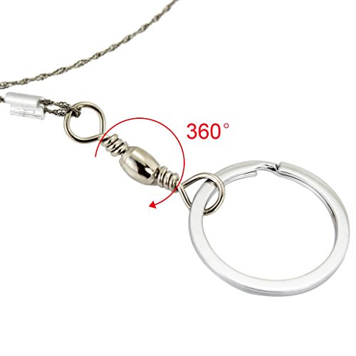 Tcamp Hand Pocket Chain Wire Saws, Stainless Steel