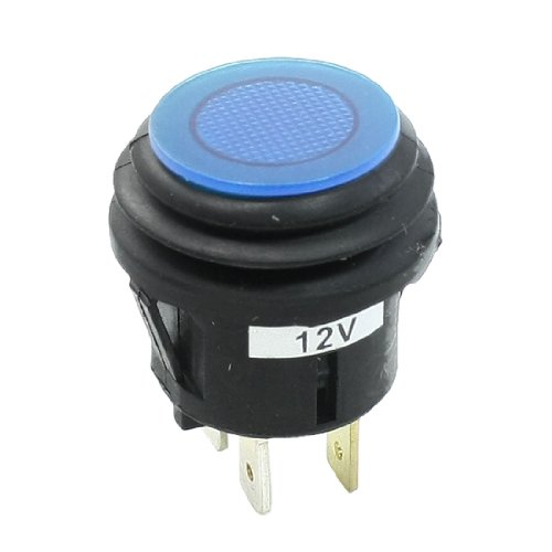 12v Push Button Selflock Switch Square Led Light Momentary Latching