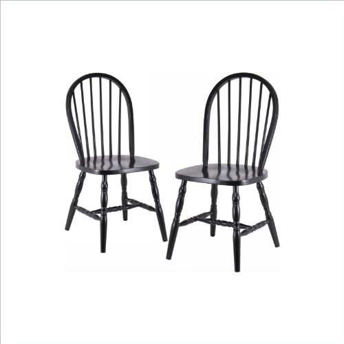 Winsome Wood Assembled 29-Inch Windsor Chairs, Set of 2