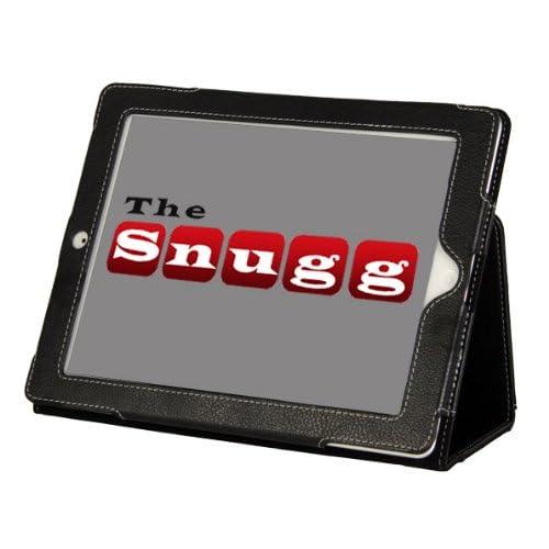 【アメリカでベストセラー!】米国スナッグ社製 Apple iPad 3 レザーケースカバー、フリップスタンド(ブラック)