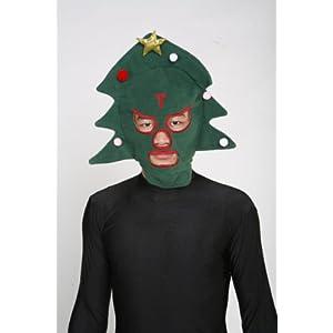 Christmas Tree Luchador Mask