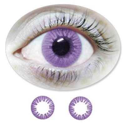 Farbige Kontaktlinsen Eintageslinsen Fun Violet /Lilane /Violette ohne Stärken / Dioptrien