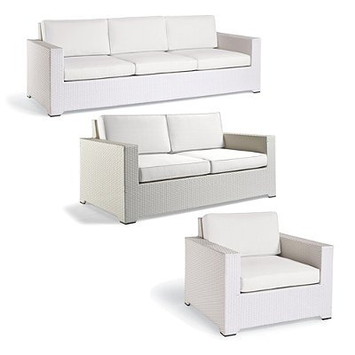 palermo 3 pc outdoor sofa set in white finish sand with canvas piping frontgate patio furniture porphyrsdfesaksakov